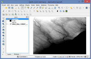 QGIS-screenshot_minecraft-DEM-project