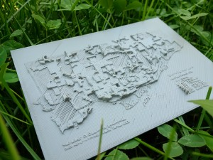 3D-printed Toronto population density map