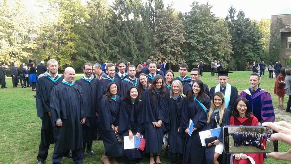 All 17 MSA graduates after Fall 2015 Convocation (photo credit: Vadim Sabetski)