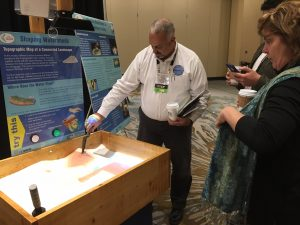 CLOCA's AR-sandbox at GIS-Pro2016