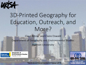Title slide - 3D-printed geography