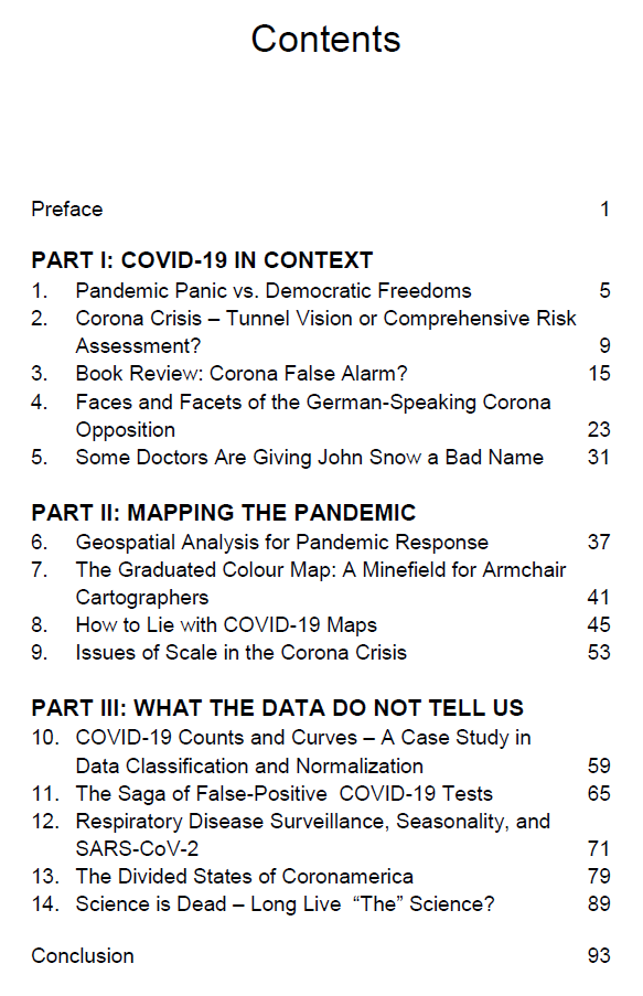 """Table of Contents of """"The Coronoia Blogbook"""""""