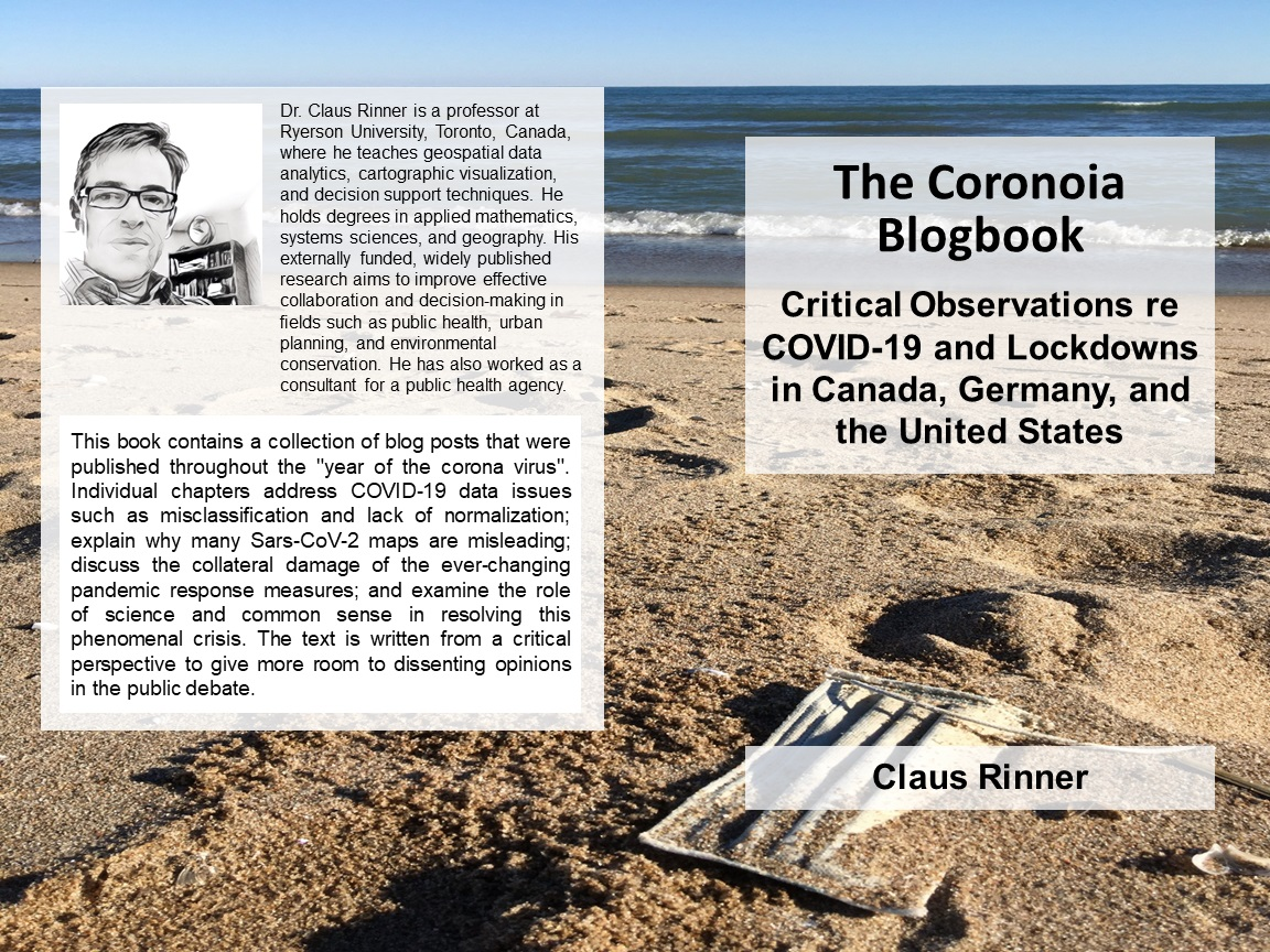 "Back and front covers of ""The Coronoia Blogbook"""